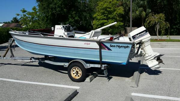 Instant Boat Nymph : Sea nymph aluminum boat w trailer naples