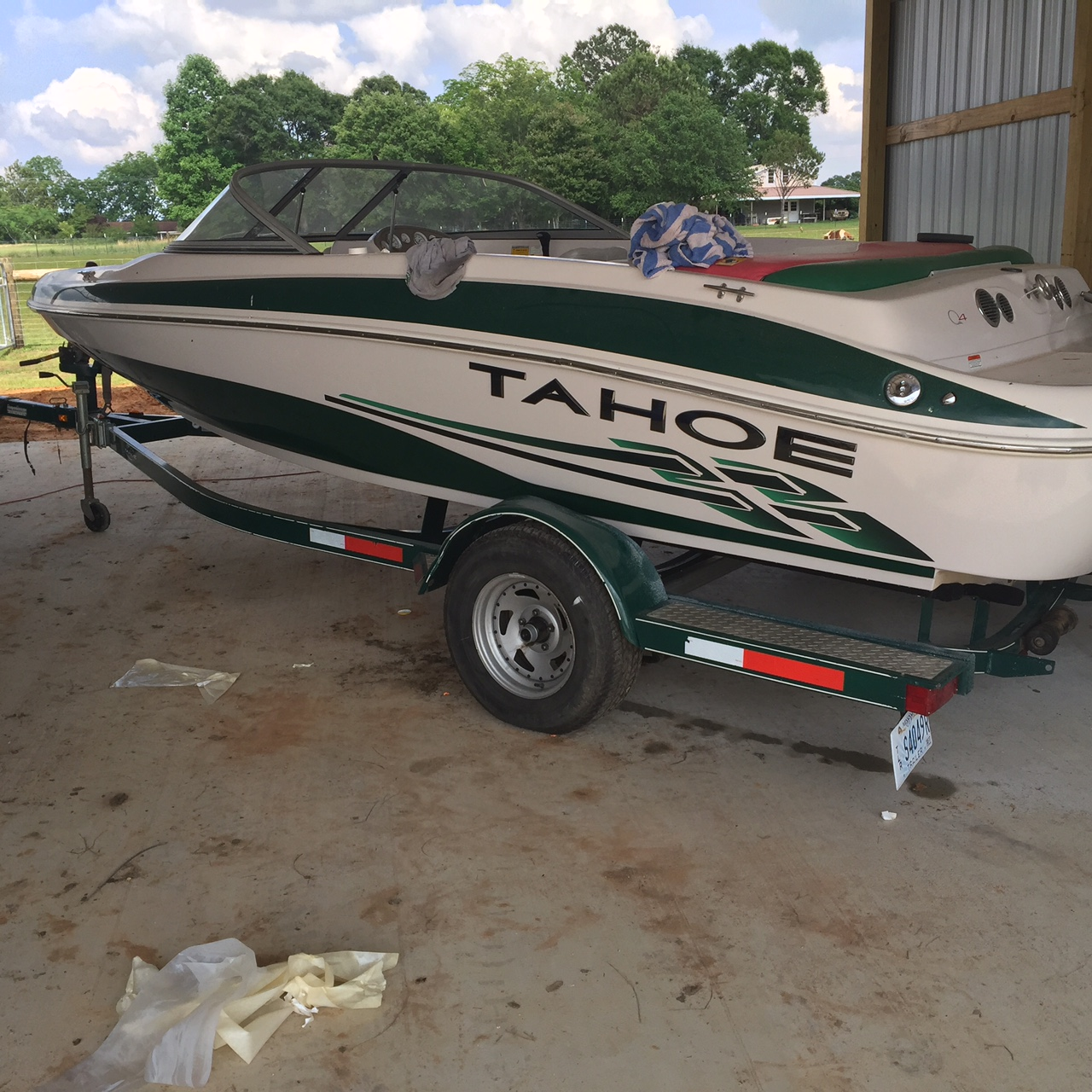 2005 20 Foot Bentley Cruiser Pontoon Boat For Sale In: 2005 TAHOE Q4 SPort Boat 20ft By Tracker Marine