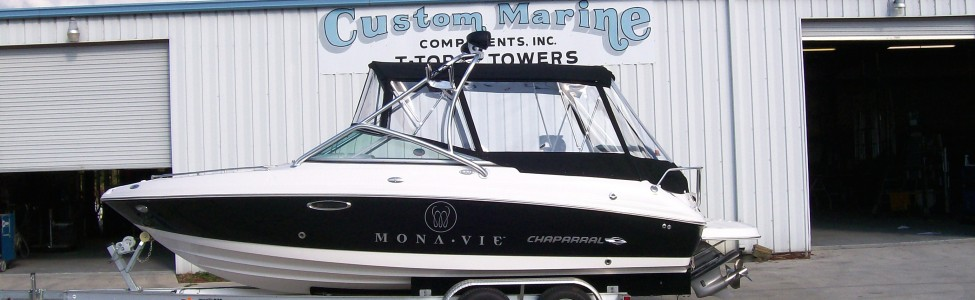 **Custom Marine Components, Inc.** is the premier top builder for boat manufacturers