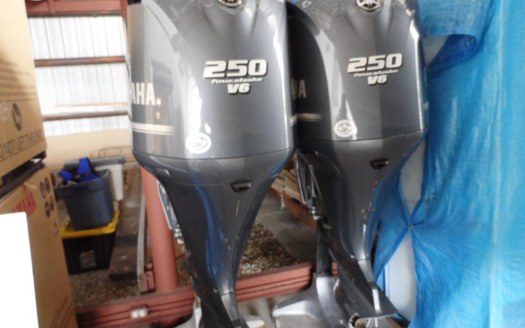 Slightly Used Yamaha F250XCA, 250HP 4 Stroke Outboard Motor Engine