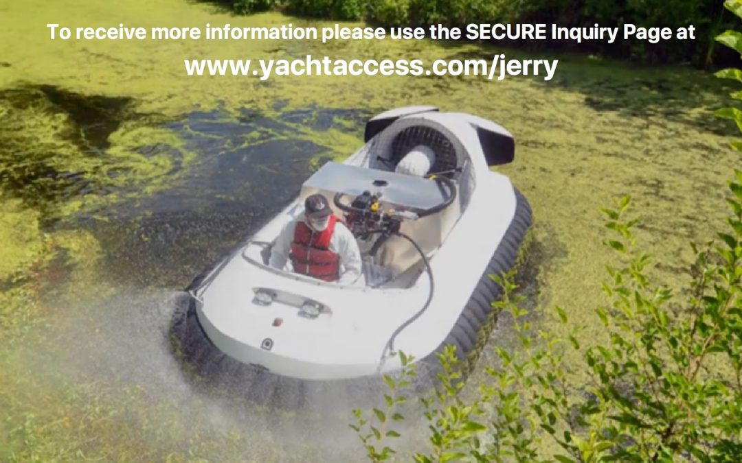 HOVERCRAFT Customized Spraying Model 6231 for Algae and Mosquito Control