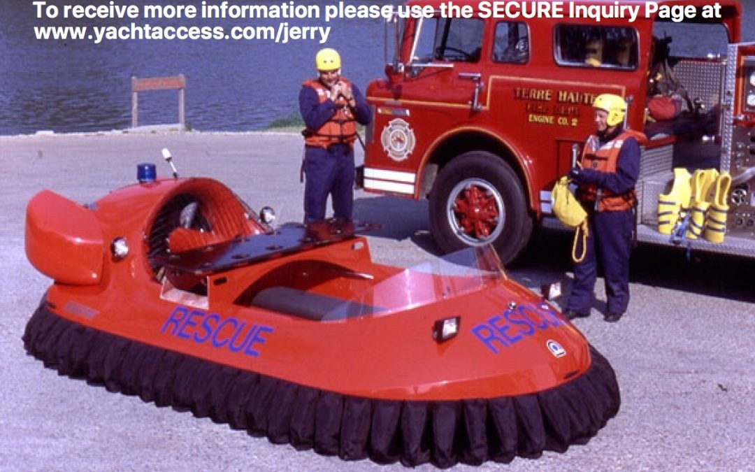 Hovertrek Hovercraft Rescue Deluxe 4 Passenger Inline Seating Model 3626