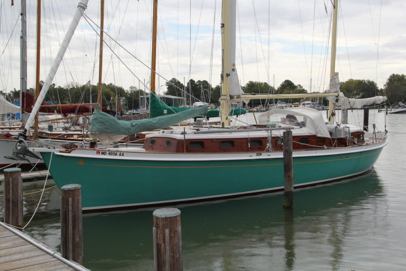 "1956 44′ Ralph Wiley CUSTOM  DOUBLE ENDED  CENTERBOARD KETCH   ""SURFBIRD""  $31,900   **** SOLD 12/ 2020  ****"