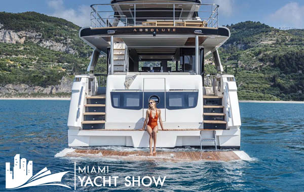 ABSOLUTE MODELS FEATURED AT THE MIAMI YACHT SHOW